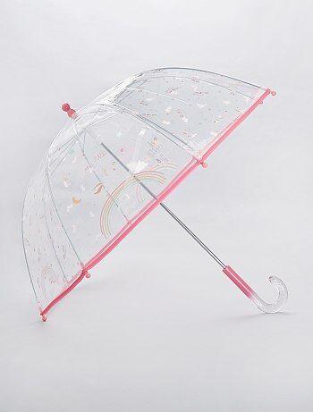 Parapluie transparent `Licorne`