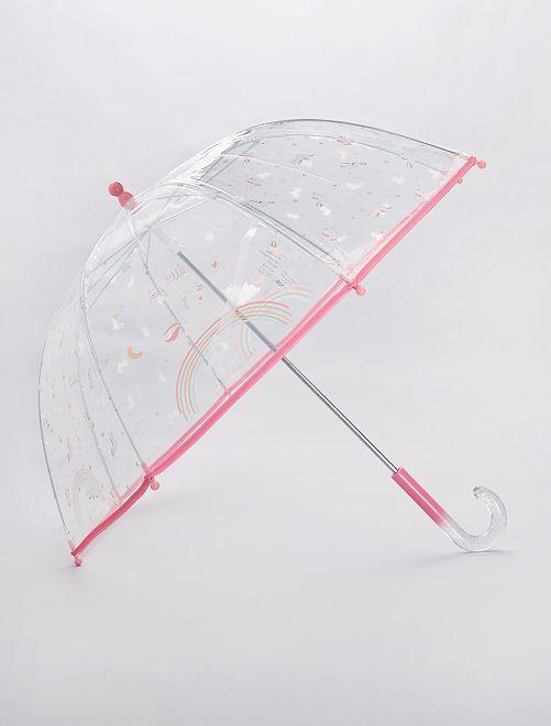 Parapluie transparent 'Licorne'                                                                             rose