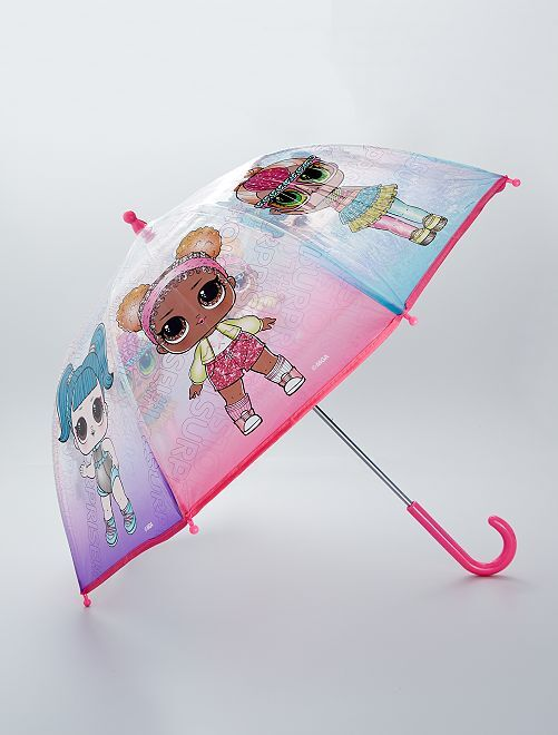 Parapluie transparent 'L.O.L Surprise !'                             rose