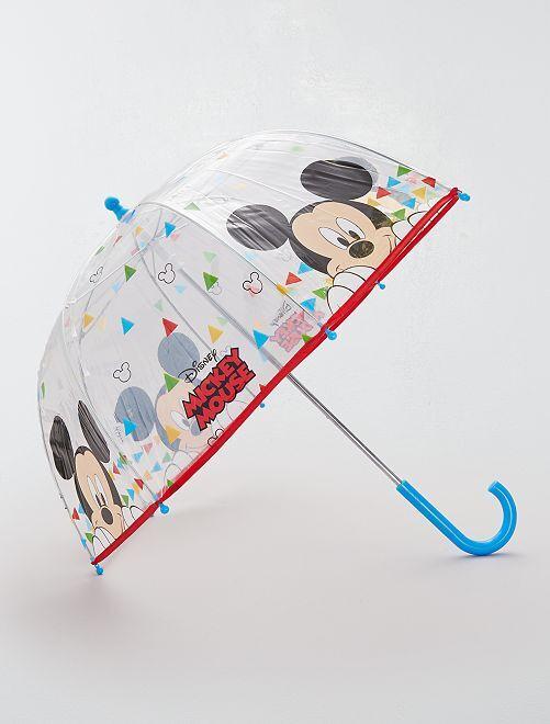 Parapluie transparent 'Mickey Mouse'                             rouge/noir