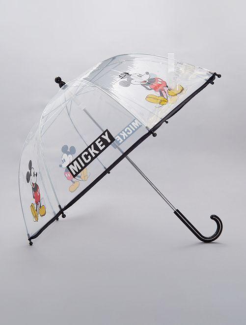 Parapluie transparent 'Mickey'                             noir