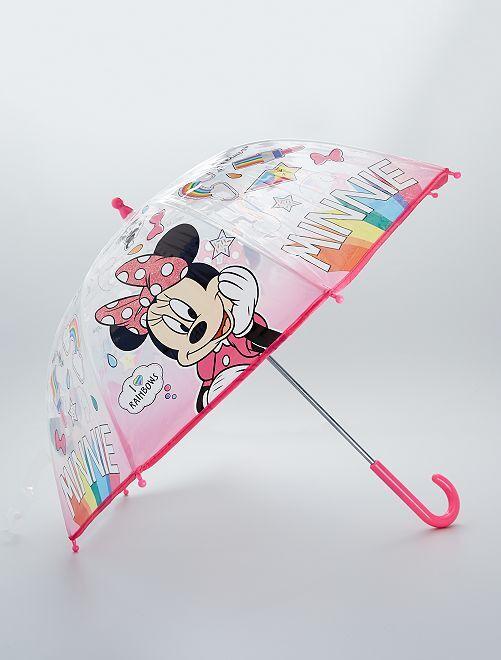 Parapluie transparent 'Minnie'                             rose