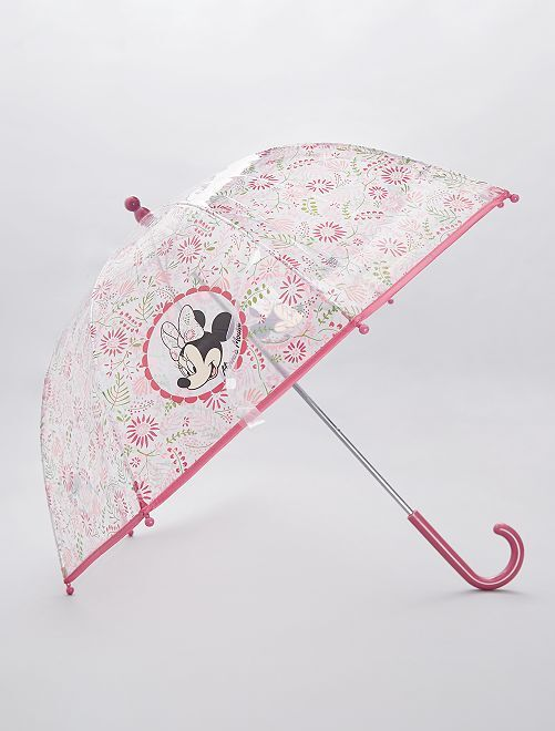 Parapluie transparent 'Minnie'                             rose