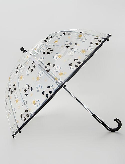 Parapluie transparent 'Panda'                             noir
