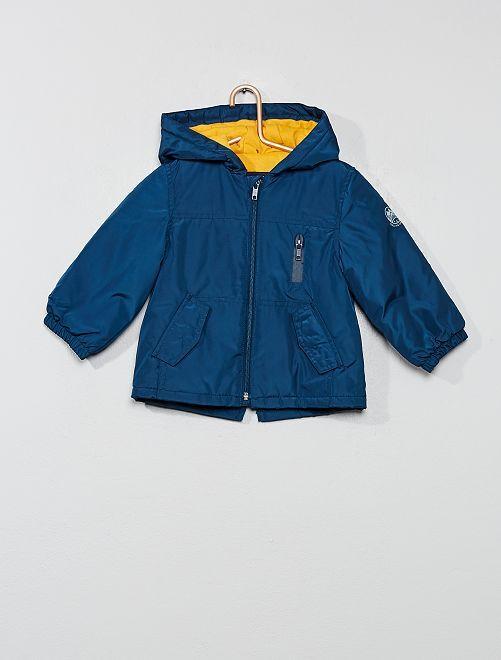 Parka à capuche doublée jersey                                         bleu marine