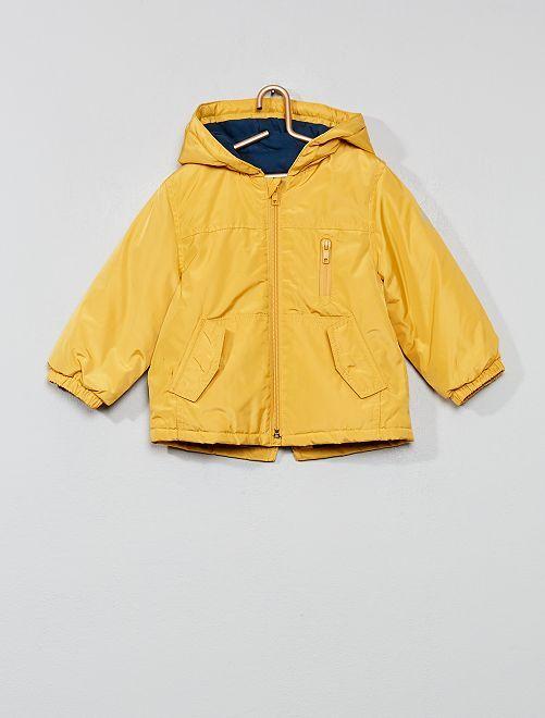 Parka à capuche doublée jersey                                         jaune moutarde Bébé garçon