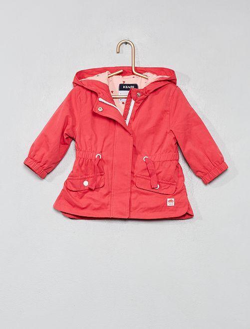 Parka à capuche                                         rose Bébé fille