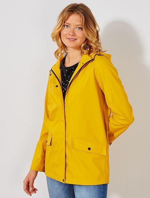 Parka déperlante à capuche                                                                                         jaune Femme