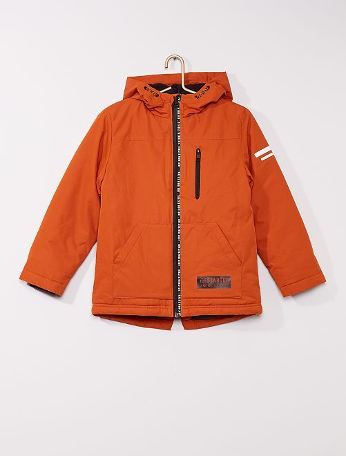 Parka déperlante à capuche                                         orange