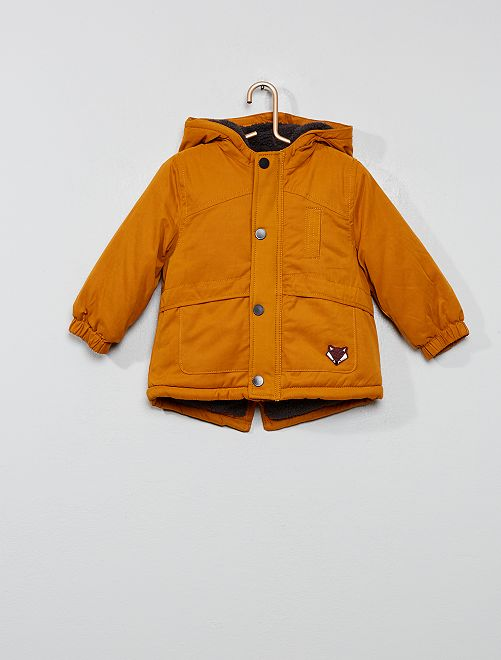 Parka doublée sherpa                                         jaune