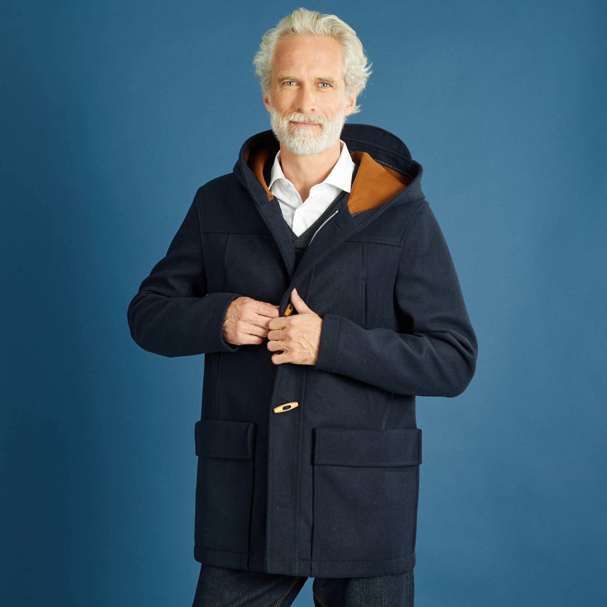 Couleur : gris chiné, bleu marine, ,, - Taille : M, XXL, ,,Avec de la laine pour une véritable enveloppe de chaleur et des doublures contrastantes