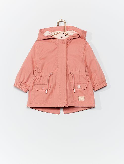 Parka légère à capuche                                         rose clair