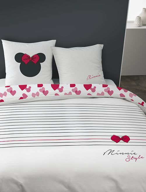 Parure de lit 1 ou 2 personnes 'Minnie'                             blanc