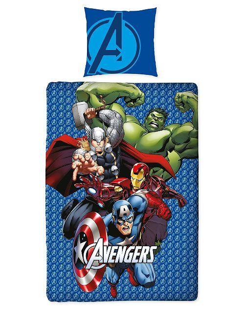 Parure de lit 1 personne 'Avengers'                             bleu Linge de lit