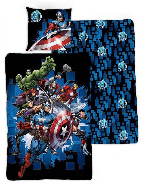 Parure de lit 1 personne 'Avengers'                             bleu marine