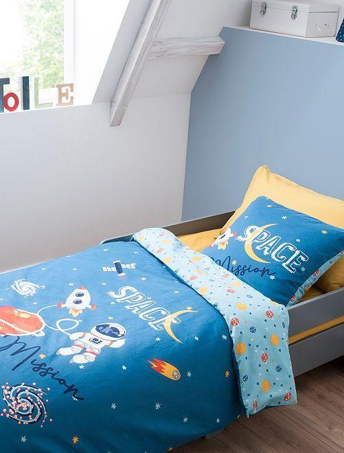 Parure de lit 1 personne                             bleu