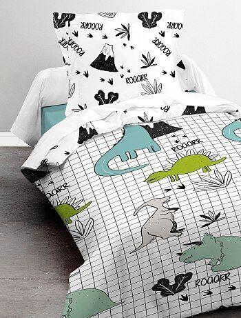 Parure de lit 1 personne 'dinosaures'