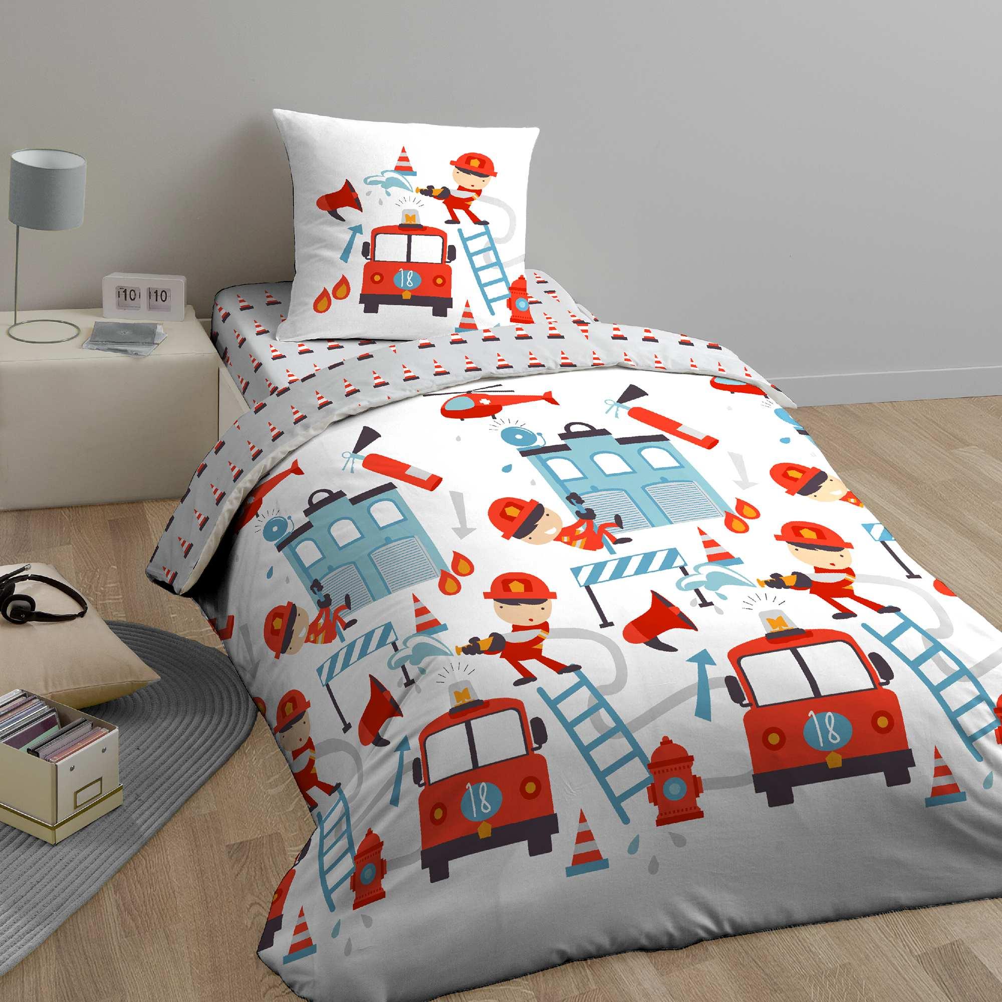 parure de lit 1 personne 39 exercice 39 linge de lit blanc. Black Bedroom Furniture Sets. Home Design Ideas