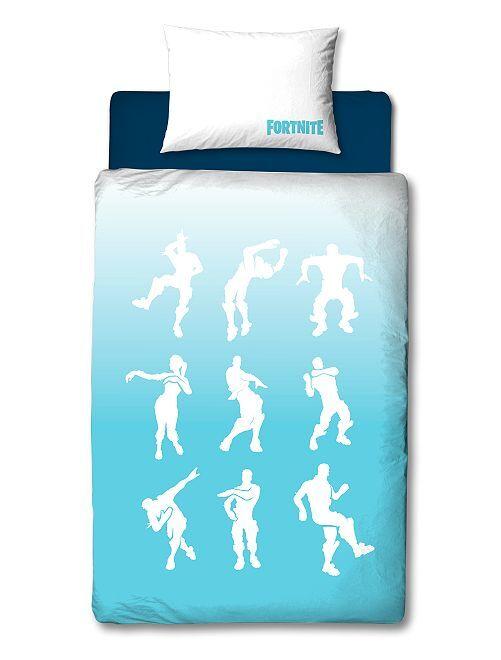 Parure de lit 1 personne 'Fortnite'                             bleu/blanc Linge de lit