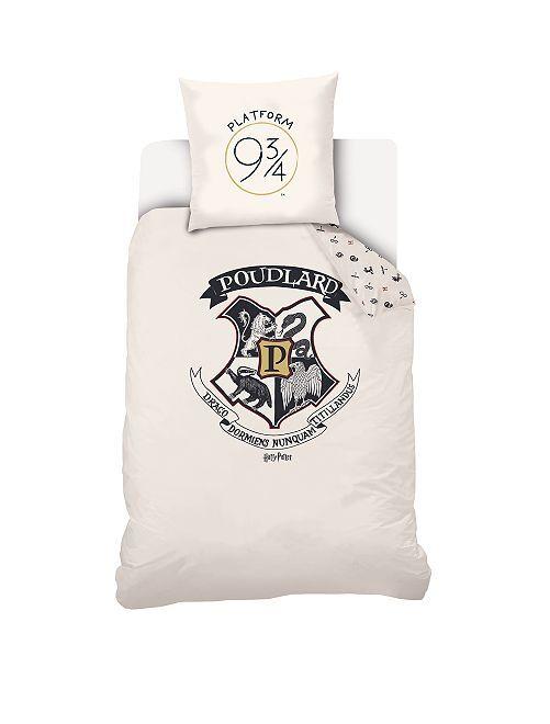 Parure de lit 1 personne 'Harry Potter'                             écru Linge de lit
