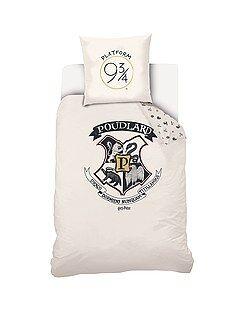 Linge de lit enfant - Parure de lit 1 personne 'Harry Potter' - Kiabi