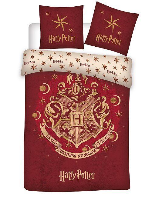 Parure de lit 1 personne 'Harry Potter'                             rouge Linge de lit