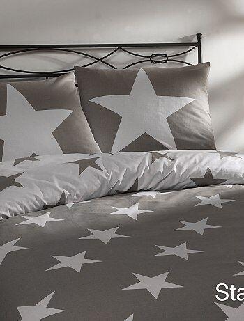 Parure de lit 1 personne imprimé étoiles - Kiabi