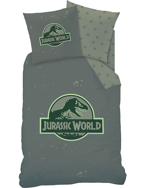 Parure de lit 1 personne 'Jurassic World'                             kaki