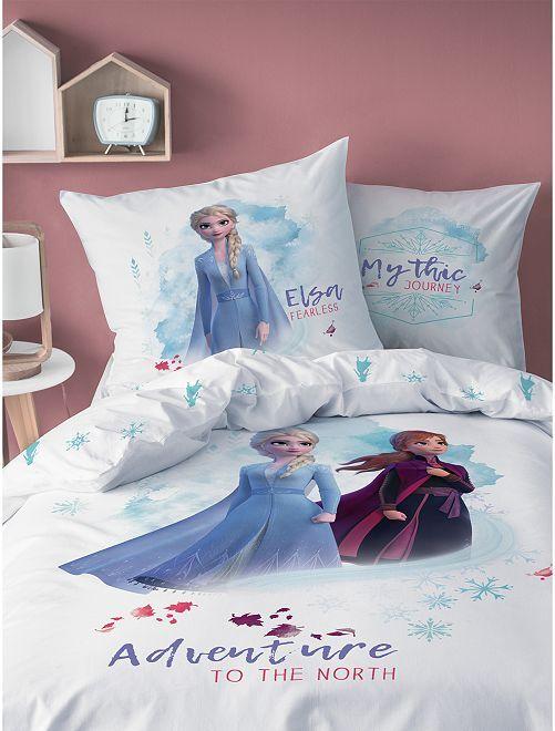 Parure de lit 1 personne 'La Reine des Neiges 2'                             blanc