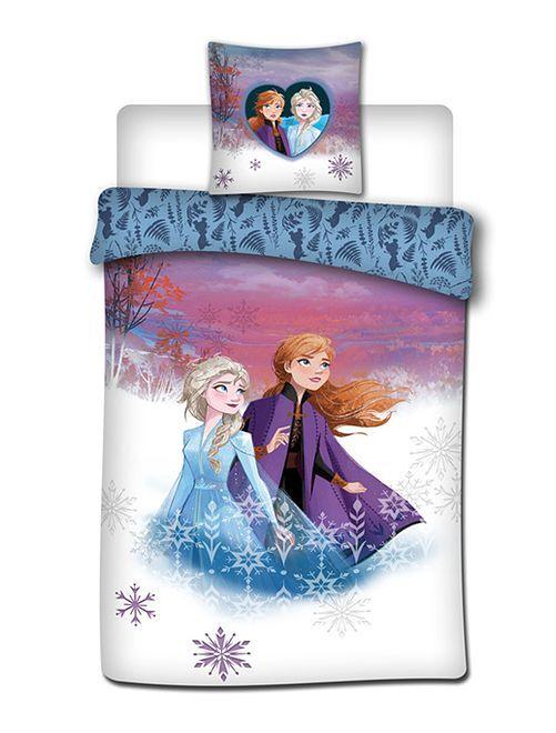 Parure de lit 1 personne 'La Reine des Neiges 2'                             bleu violet