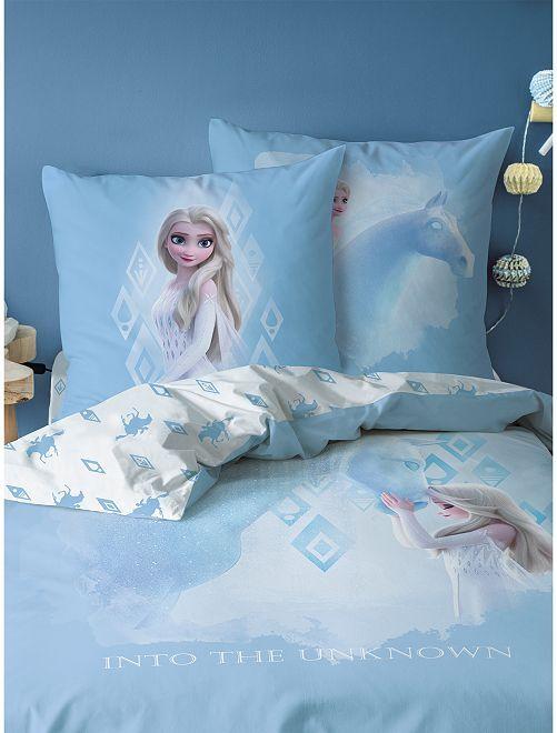 Parure de lit 1 personne 'La Reine des Neiges'                             bleu ciel
