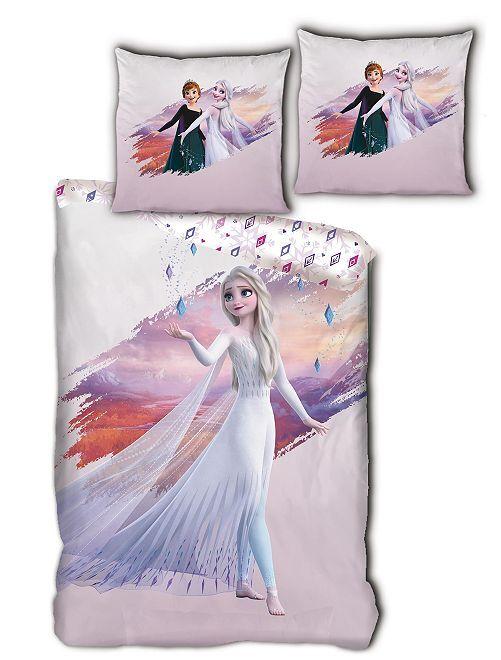 Parure de lit 1 personne 'La Reine des Neiges'                             rose