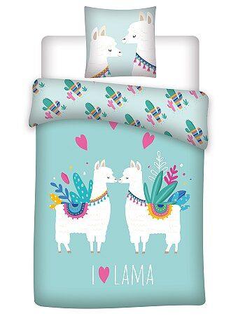 Parure de lit 1 personne `Lama`