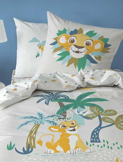 Parure de lit 1 personne 'Le Roi Lion'                             blanc