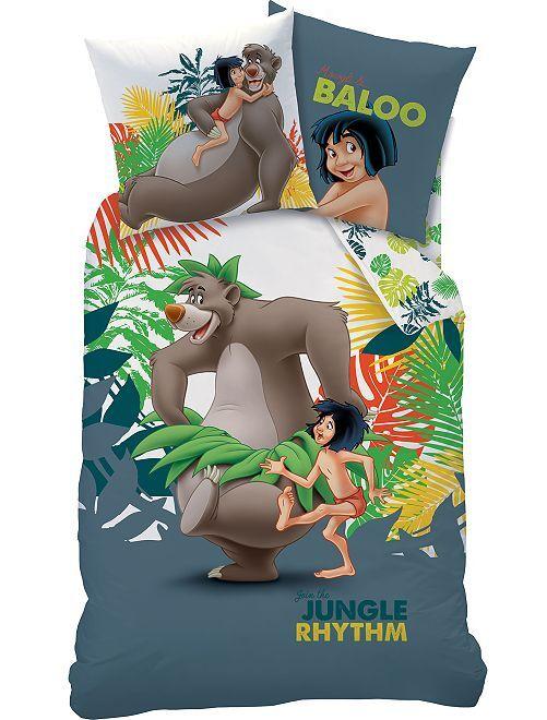 Parure de lit 1 personne 'Livre de la Jungle'                             vert