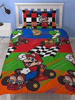 Parure de lit 1 personne 'Mario Kart' - Kiabi