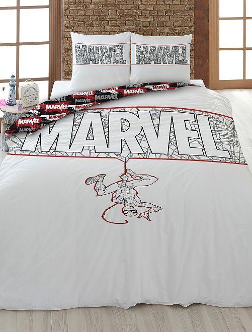 Parure de lit 1 personne 'Marvel'                             blanc