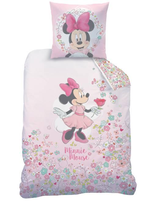 Parure de lit 1 personne 'Minnie'                             rose Linge de lit