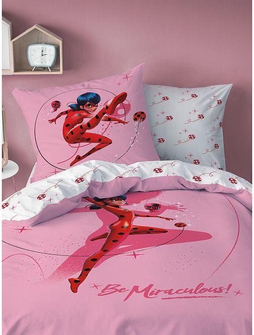 Parure de lit 1 personne 'Miraculous'                             rose
