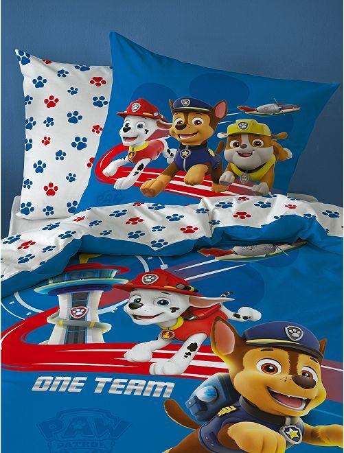 Parure de lit 1 personne 'Pat'Patrouille'                             bleu