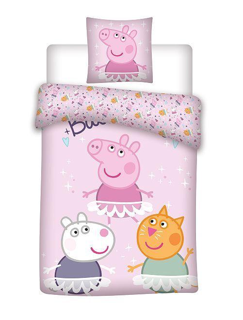 Parure de lit 1 personne 'Peppa Pig'                             rose