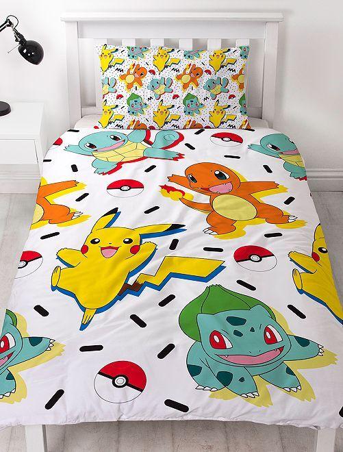 Parure de lit 1 personne 'Pikachu'                             blanc
