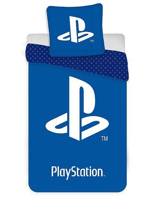 Parure de lit 1 personne 'PlayStation'                             bleu