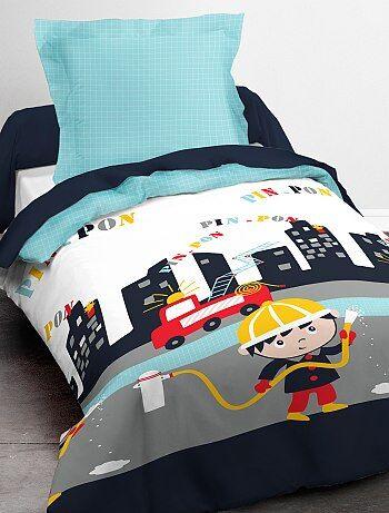 Parure de lit 1 personne 'pompier' - Kiabi