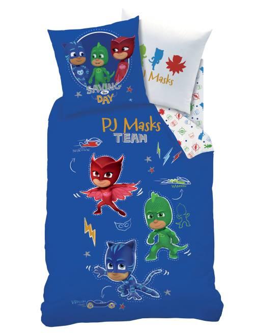 Parure de lit 1 personne 'Pyjamasques'                             bleu Linge de lit