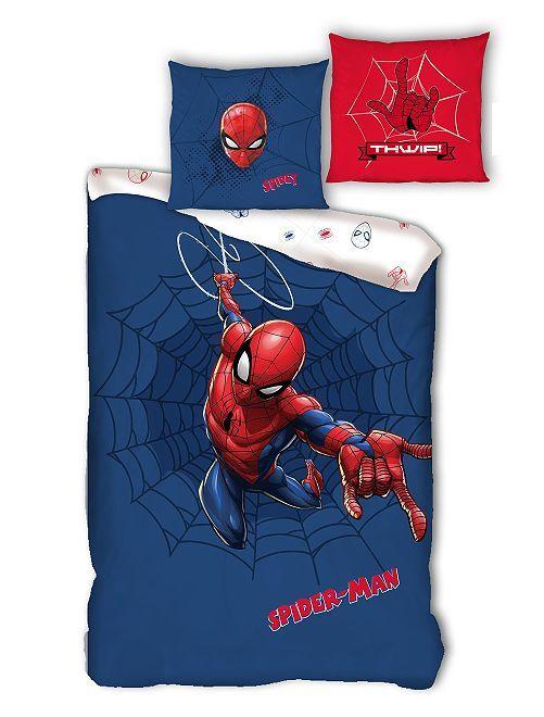 Parure de lit 1 personne 'Spider-Man'                             bleu