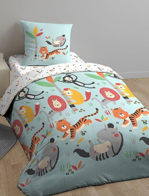 Parure de lit 1 personne 'Zonimo'                             bleu Linge de lit