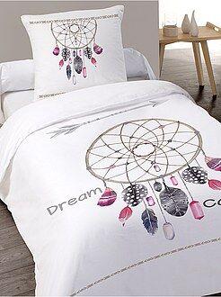 Linge de lit adulte - Parure de lit 1 personnes en coton - Kiabi
