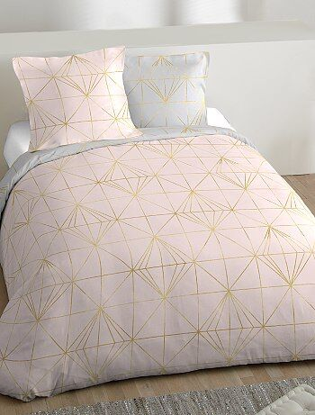 Parure de lit 2 personnes à l`imprimé géométrique