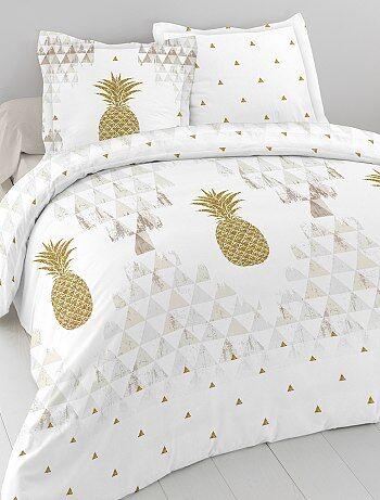 Parure de lit 2 personnes `ananas`